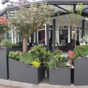 Garten gestaltet von Metallbau Fröbel