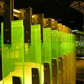 Geländer aus Glas gebaut von Metallbau Fröbel